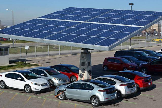 abastecimento de carros com energia solar